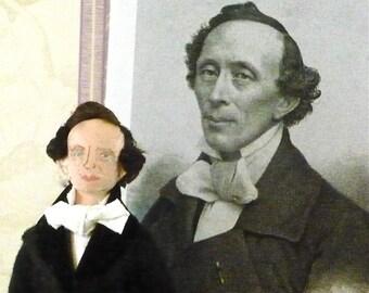 Hans Christian Andersen Doll Art Miniature Fairy Tale Author