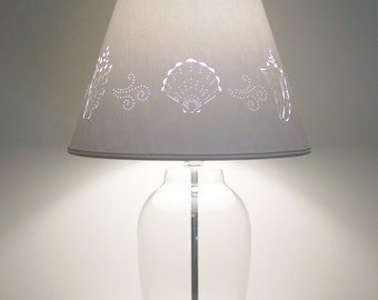 Fill Your Own Seashell Lamp - Fillable Seashell Lamp - Fillable Lamp - Seashell Lamp - Cottage Lamp - Table Lamp - Seashell Fillable