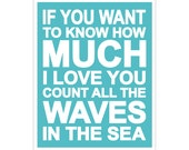Children's Wall Art / Nursery Decor If You Want to Know How Much I Love You QUOTE print by Finny and Zook