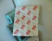 1940s Christmas Wrapping Paper STORE ROLL Holiday Greetings Poinsettia 5 Yards Long