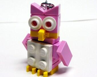Mini Pink Owl Key chain