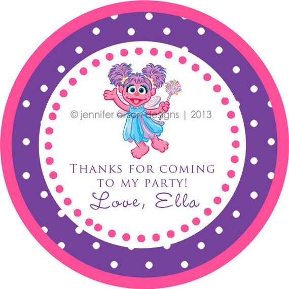 Abby Cadabby / Sesame Street STICKERS / Cupcake Topper / labels /Thank You Tag in various sizes