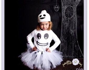Girls Ghost Costume 5 6 Year Ghost Halloween Costume Ghost Tutu Halloween Costume