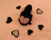 I -heart- Guinea Pigs Plushie - Black with Pink Heart