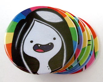 Adventure Time Inspired Coasters // Marceline the Vampire Queen
