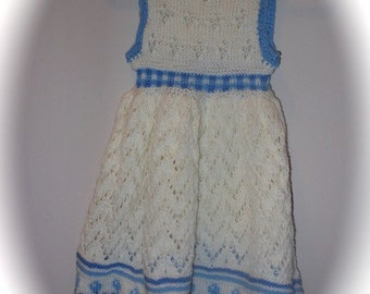Hand-Knit Lace Dress for Infant
