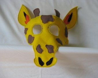kids giraffe mask
