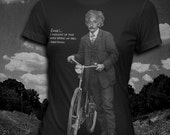 Albert Einstein Bicycle quote Womens t-shirt Science T-shirt