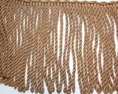 Beige Fringe, Camel Beige Bullion Fringe Sewing Trim 9 inches wide x 1 yard