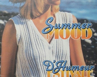 Vintage Patons Summer Sweater Knitting Pattern Book