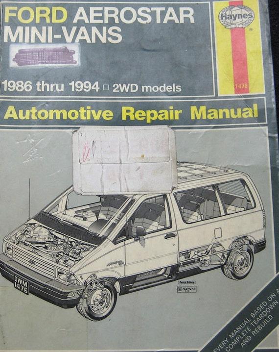 items similar to haynes ford aerostar mini vans repair. Black Bedroom Furniture Sets. Home Design Ideas