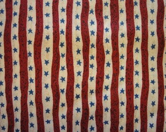 Cotton Material Stars And Stripes Destash 1 Yard