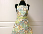 Womens Retro Full Apron, Handmade Cute Kitchen Cooking Aprons - Ready to Ship