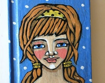 Folk Art Hand Painted Tiny Journal