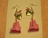 Crystals, Castles and Heart Earrings