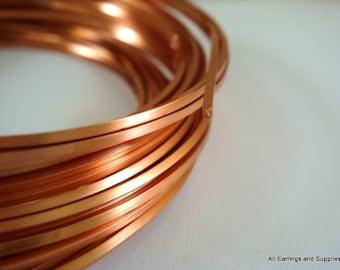 Copper Square Wire Non-Tarnish 21 Gauge Soft Tempered Solid Copper - 21 feet - STR9063WR-CSQ21