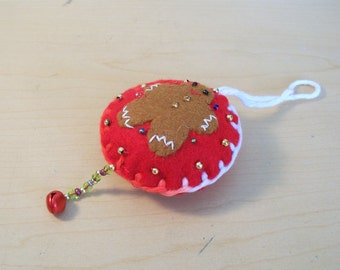 Felt Christmas Ornaments Gingerbread Man Hanging Ornament