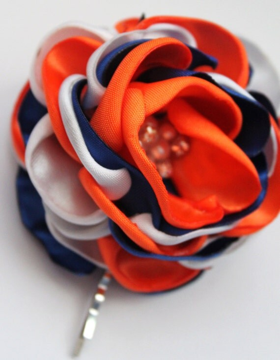 Items Similar To Denver Broncos Colors White Royal Blue