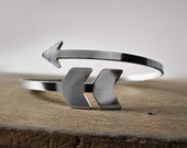 Arrow bracelet - tribal cuff - chevron jewelry - arrow bangle bracelet