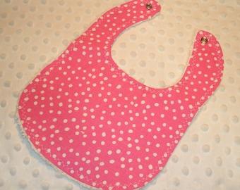 Pink Dots Baby Bib