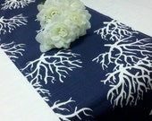 Custom Listing for Catherine--NAUTICAL CORAL LINENS-Blue Coral Print Add-on to Order 6