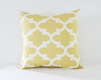 Saffron Pillow Cover Decorative Pillows Throw Pillows Yellow Pillow All Sizes