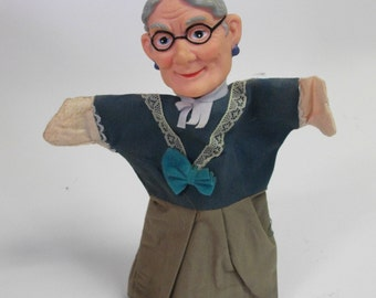 Vintage Fairy Tale Granny Puppet