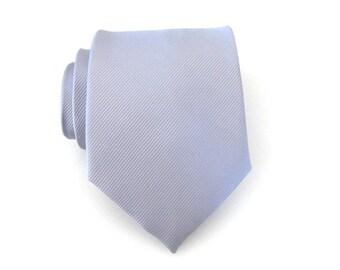 Mens Ties Necktie Light Gray Stripes Mens Tie