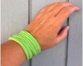 Infinity Wrap Bracelet T Yarn Lime Green