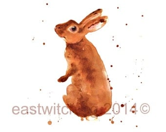 Rabbit Watercolor Print