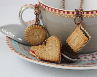 Custom Initials Necklace or Word Necklace - Cookie Necklace for Tea - Cookie Collection