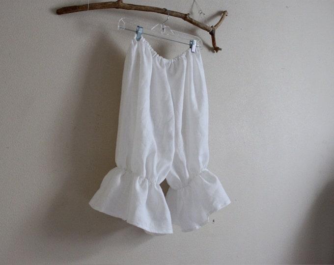 linen bloomers made to order / plus size bloomers / linen Capri / women bloomers / linen costume / balloon pants / women linen pants