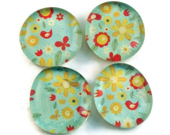 Glass Marble Magnets Funky  Refrigerator Magnets  in Cherish (M81)