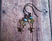 Little Starfish, Dangle Earrings, Coastal Glam, Boho Chic