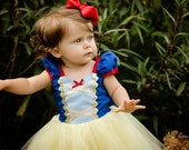 SNOW WHITE costume dress girls princess  costume dress TUTU dress style princess costume