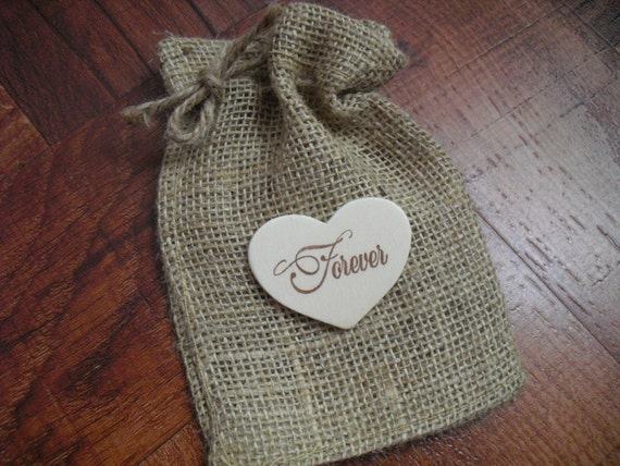 Favor Bags or Candy Buffet Bags for Rustic Country Wedding 4x6 - Set of 10 - Item 1009