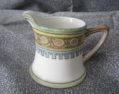 Nippon Moriage Creamer - Egyptian Influence - Art Deco - Raised Hand Painted Design  1891-1921