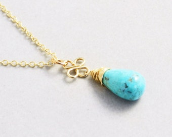 Turquoise Necklace, Sleeping Beauty Turquoise Necklace, December Birthstone Jewelry