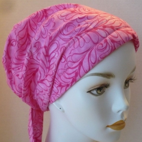 classic pink chemo wrap hair loss scarf turban hat