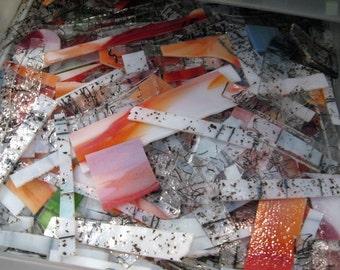 COE 96, Spectrum and Uroboros Fusible glass scrap