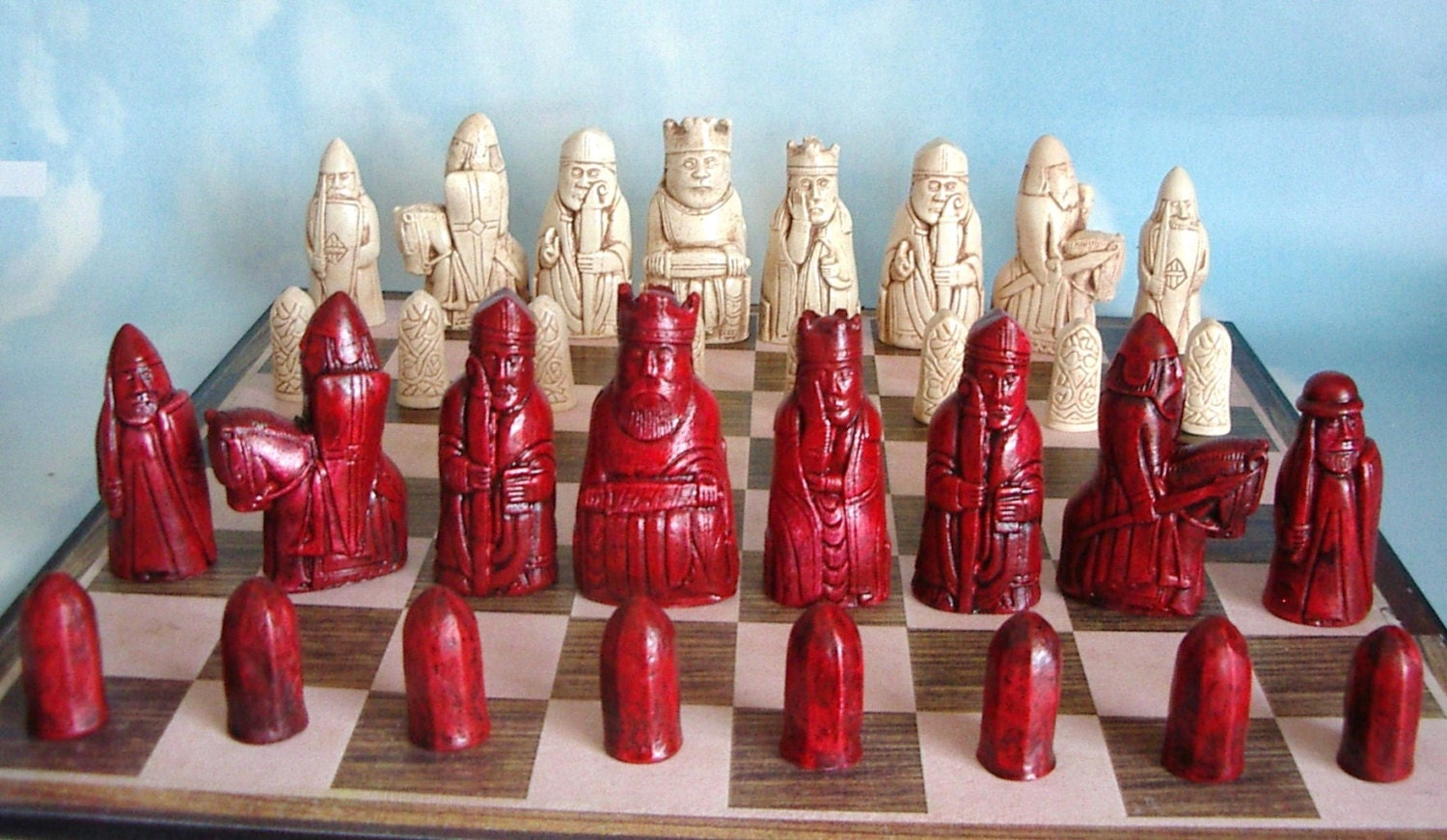 Isle of lewis chess set moldsset 39 a 39 10 latex molds by chessets - Lewis chessmen set ...