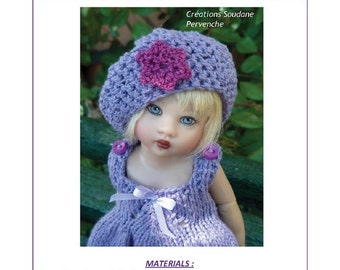 "43. English and  French INSTANT DOWNLOAD PDF Knitting Pattern Helen Kish Riley 8"" artist doll"