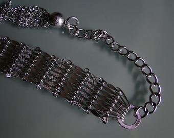 Vintage Silver Tone Seventies Belt