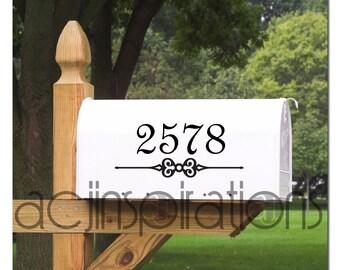 Decorative Vinyl Mailbox Number  - Custom Decal
