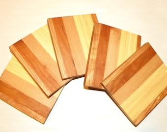 Exotic Wood Coaster Set of 5