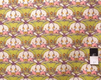 Tina Givens PWTG114 Pagoda Lullaby Pagoda Hill Celery Cotton Fabric 1 Yd