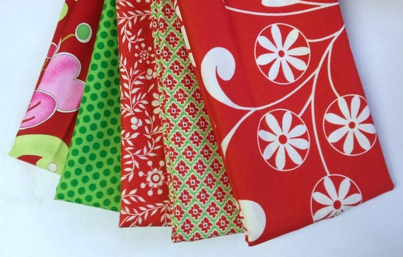 Dena Designs Christmas Snow Flower Collection Cotton Fabric REMNANT PACK