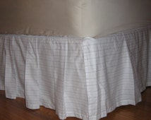 Only o n e Left - READY tO SHIP - Crib Size - Box - Pleated Bed skirt