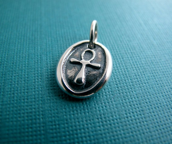 egyptian ankh sterling silver charm