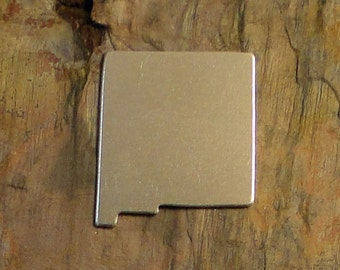 """5 Deburred 18G Aluminum 1"""" x 1 1/4"""" NEW MEXICO Stamping Blanks"""